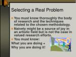 selecting a real problem1