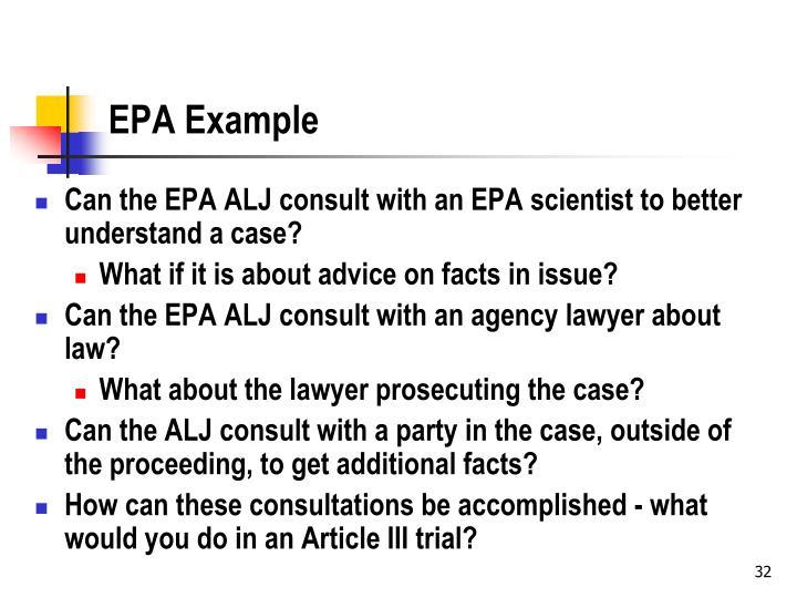 EPA Example