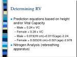 determining rv