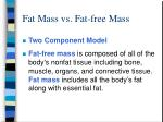 fat mass vs fat free mass