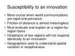 susceptibility to an innovation