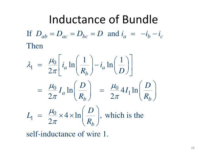 Inductance of Bundle