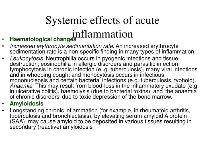 Systemic effects of acute inflammation