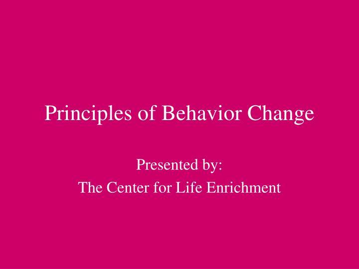 principles of behavior change