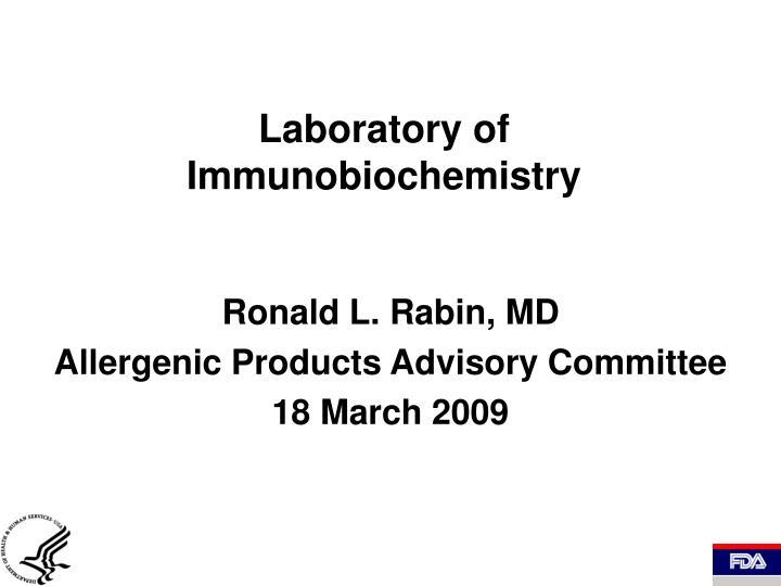 laboratory of immunobiochemistry n.