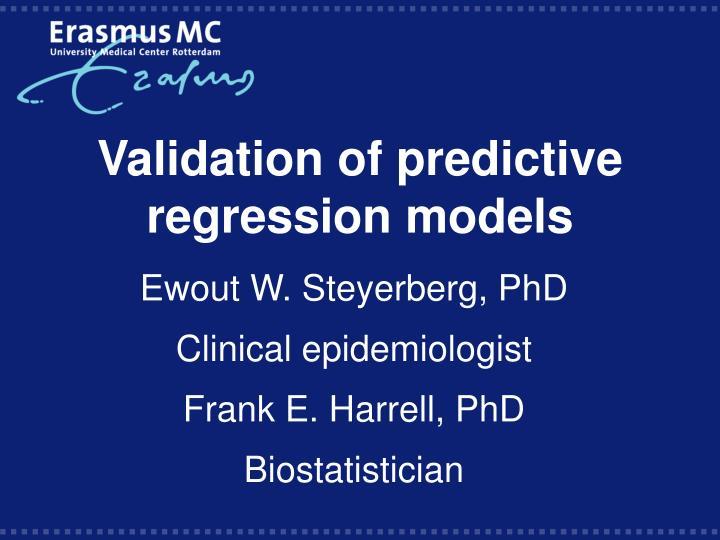 validation of predictive regression models