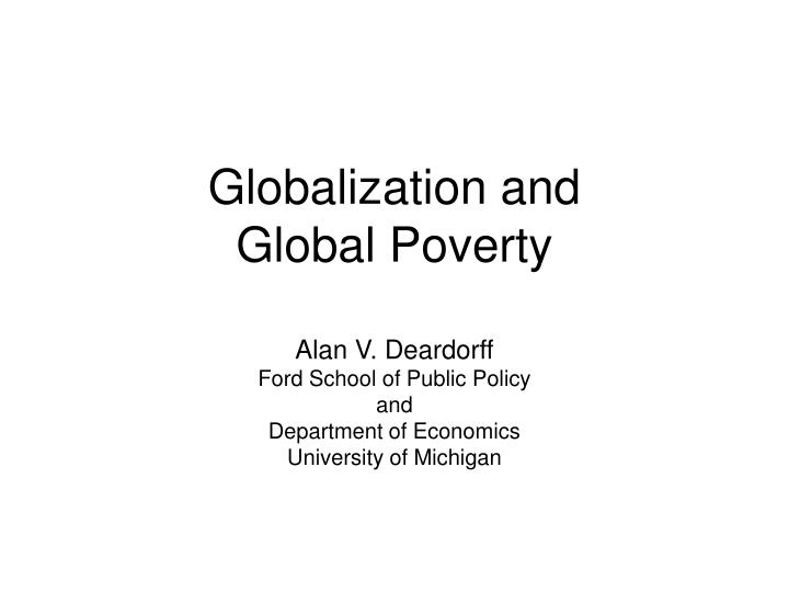 globalization and global poverty