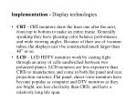 implementation display technologies