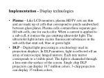 implementation display technologies1