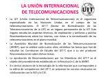 la uni n internacional de telecomunicaciones
