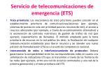 servicio de telecomunicaciones de emergencia ets3