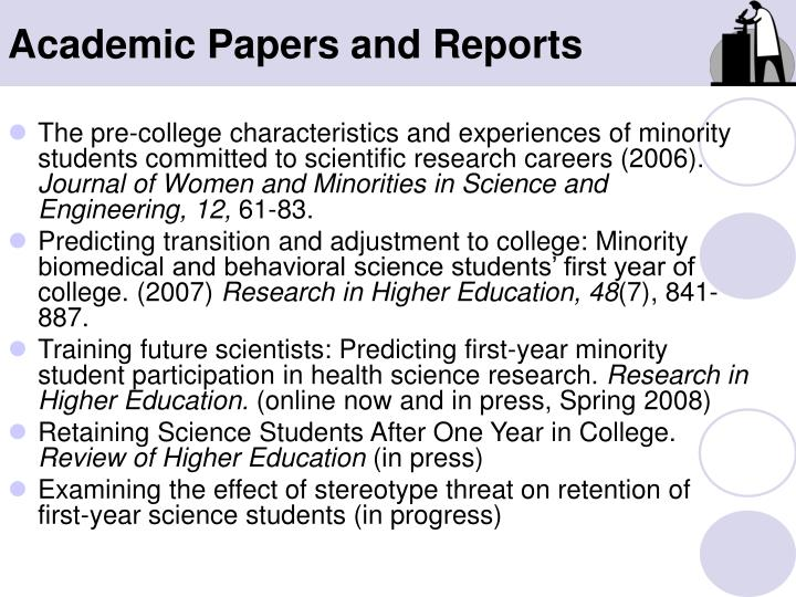 Academic Papers and Reports