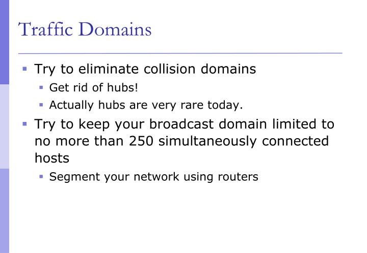 Traffic Domains