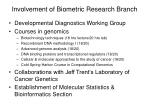 involvement of biometric research branch