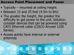 access point placement and power