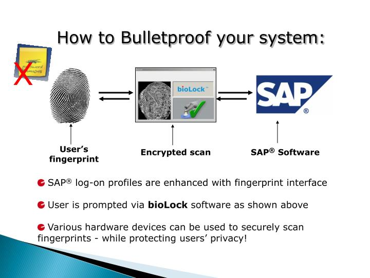 User's fingerprint