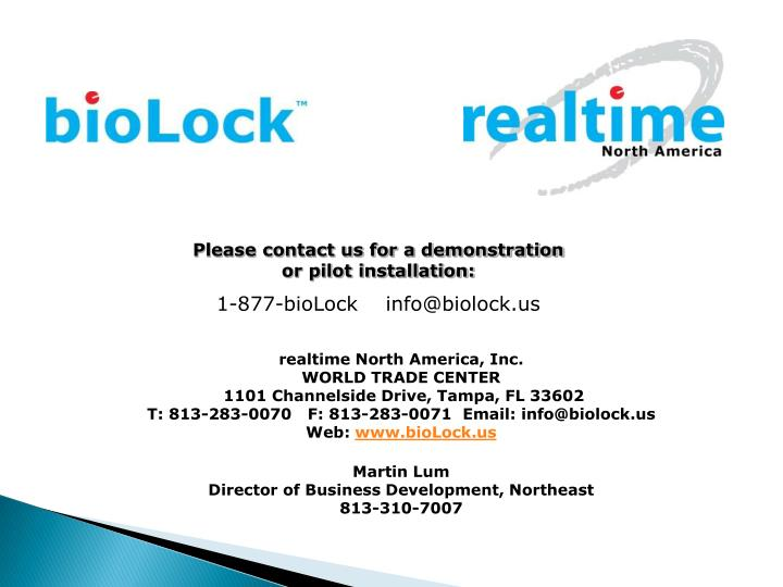 Please contact us for a demonstration or pilot installation: