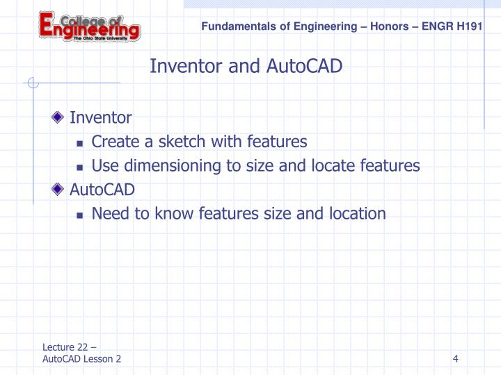 Inventor and AutoCAD