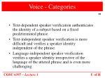 voice categories
