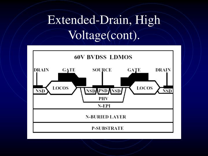 Extended-Drain, High Voltage(cont).
