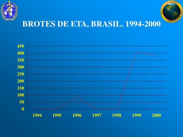 BROTES DE ETA, BRASIL. 1994-2000