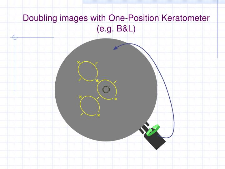 Doubling images with One-Position Keratometer (e.g. B&L)