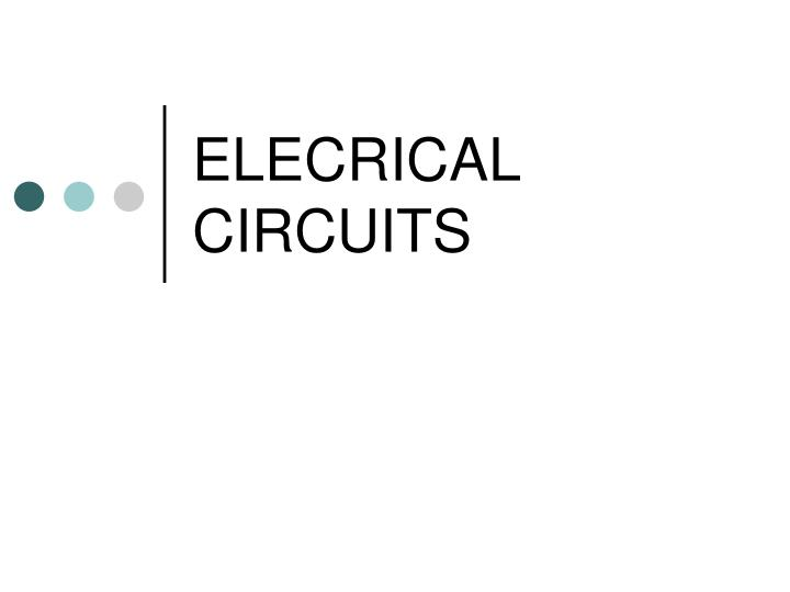 elecrical circuits n.