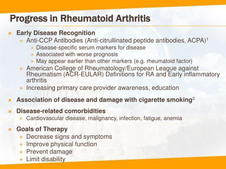 Progress in rheumatoid arthritis