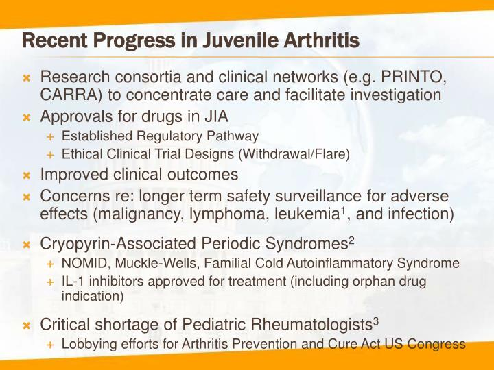 Recent Progress in Juvenile Arthritis