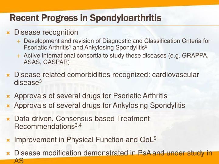 Recent Progress in Spondyloarthritis