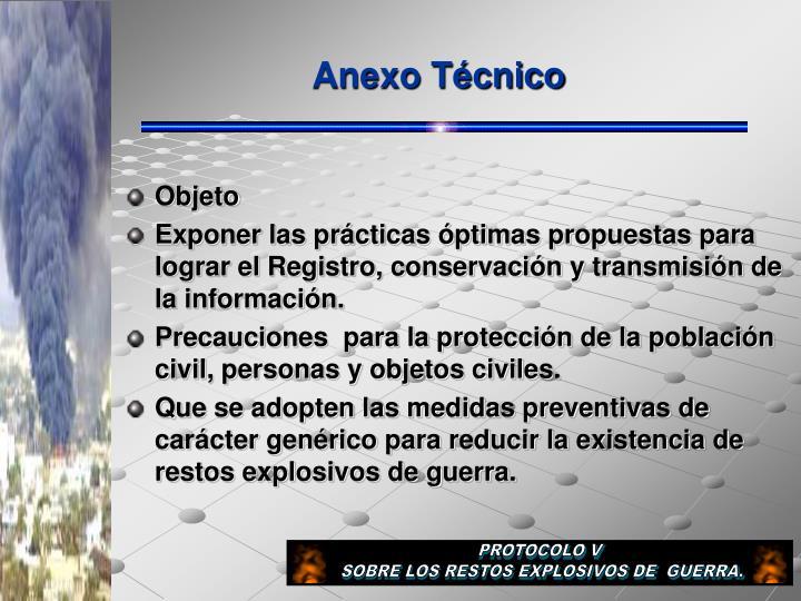 Anexo Técnico