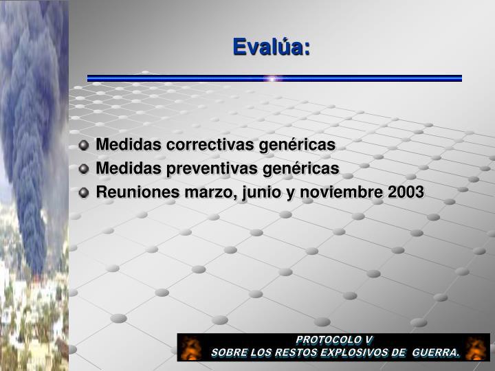 Evalúa: