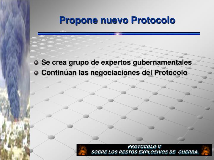 Propone nuevo Protocolo