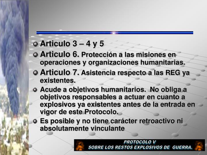 Articulo 3 – 4 y 5