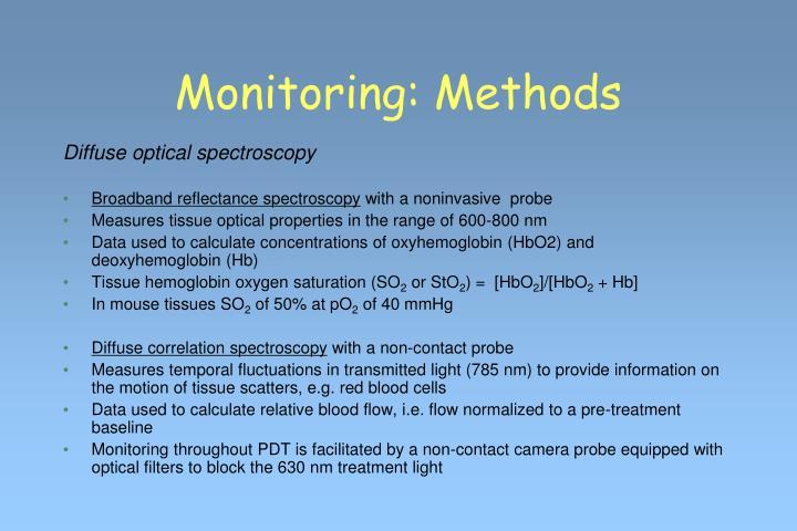 Monitoring: Methods