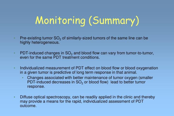 Monitoring (Summary)