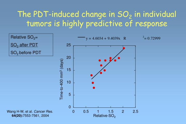 The PDT-induced change in SO