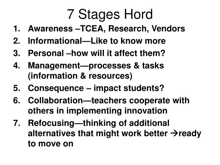 7 Stages Hord