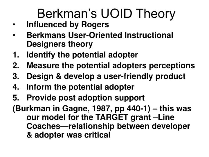 Berkman's UOID Theory