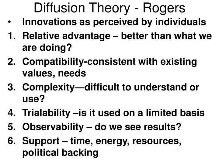 Diffusion Theory - Rogers