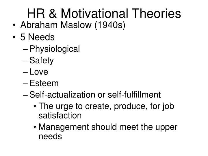 HR & Motivational Theories