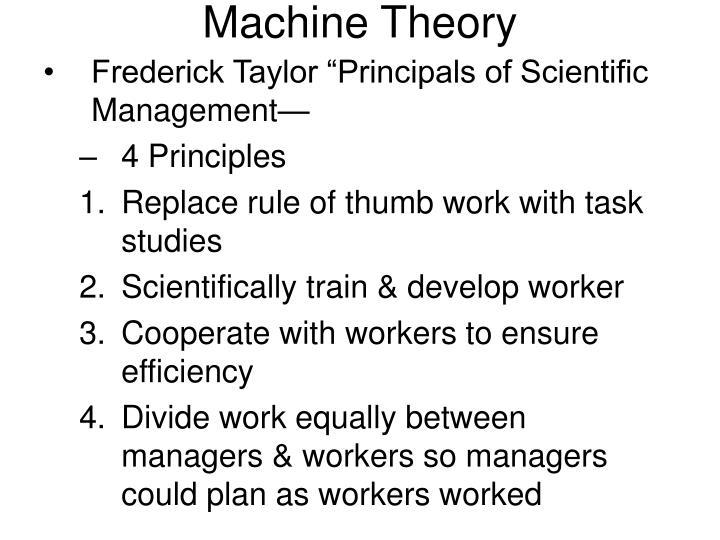Machine theory1