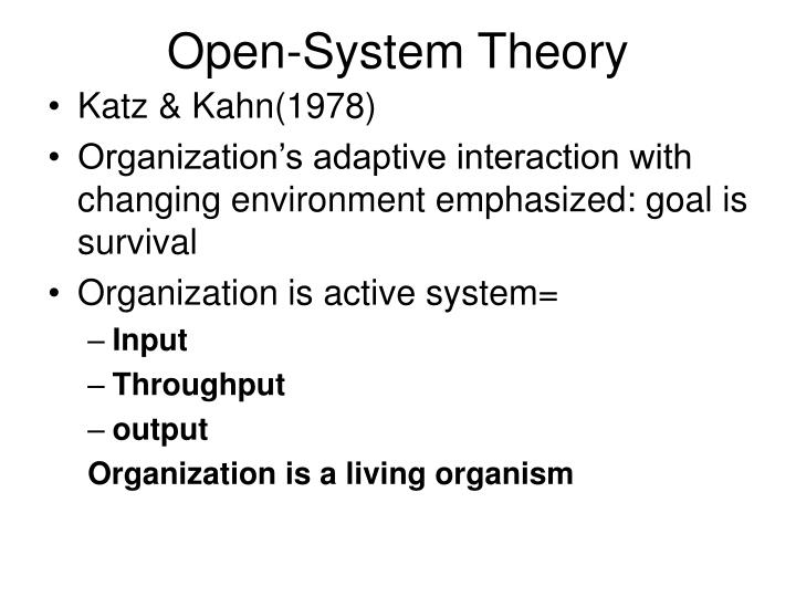 Open-System Theory