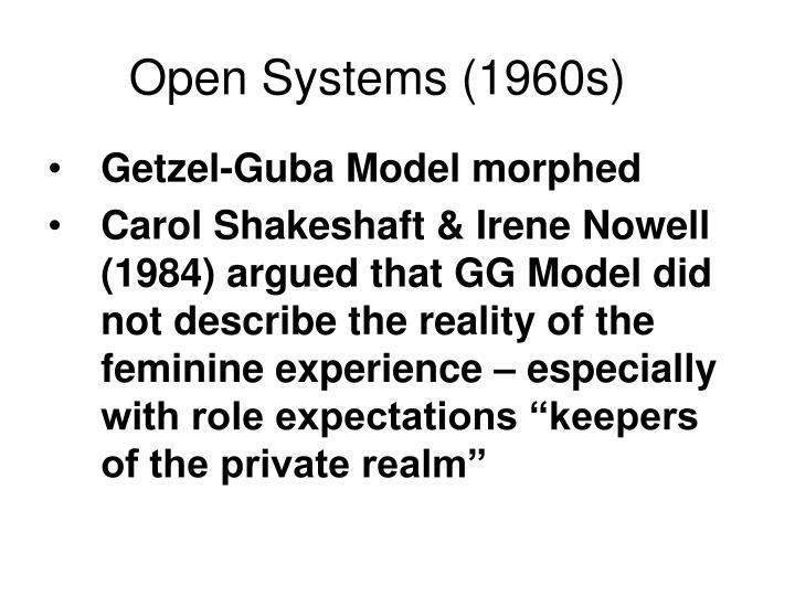 Open Systems (1960s)