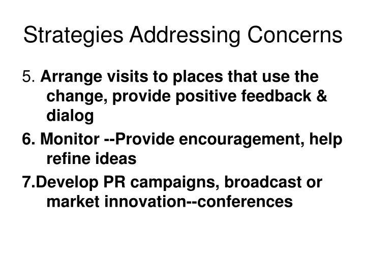 Strategies Addressing Concerns
