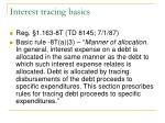interest tracing basics