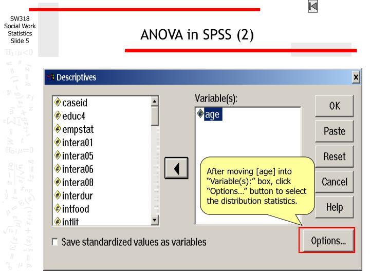 ANOVA in SPSS (2)