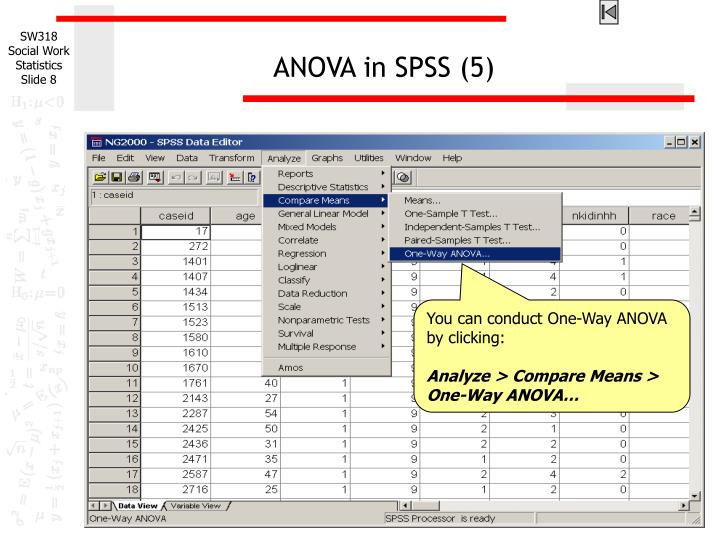 ANOVA in SPSS (5)