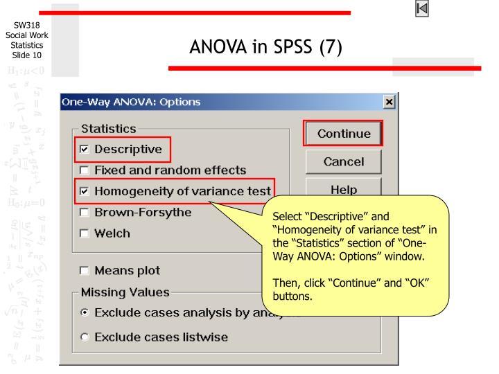 ANOVA in SPSS (7)