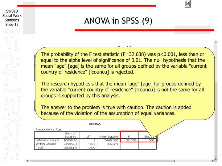 ANOVA in SPSS (9)